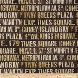 Tim Holtz Eclectic Elements Subway Signs Neutral
