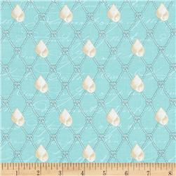 Michael Miller By The Sea Nautical Netting Aqua