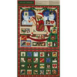 Season's Greetings 2013 Rocking Horse Advent Calender Panel Multi