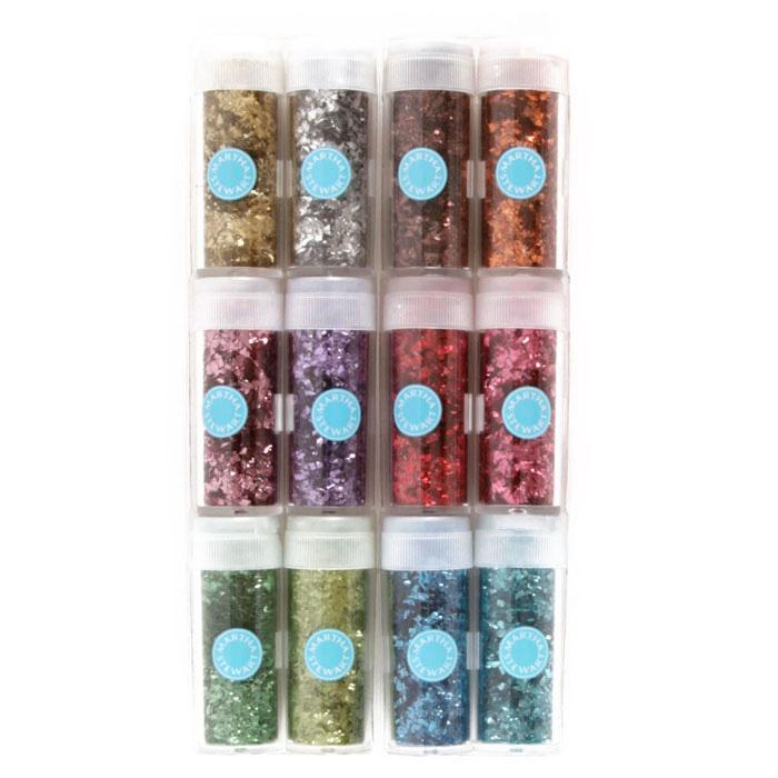 Martha Stewart Crafts Vintage Leaf Glitter Set