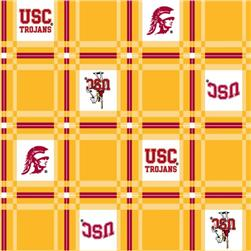 Collegiate Tailgate Vinyl Tablecloth University of Southern California Cardinal/Gold