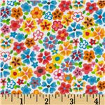 Tutti Frutti Plisse Flowers White/Multi