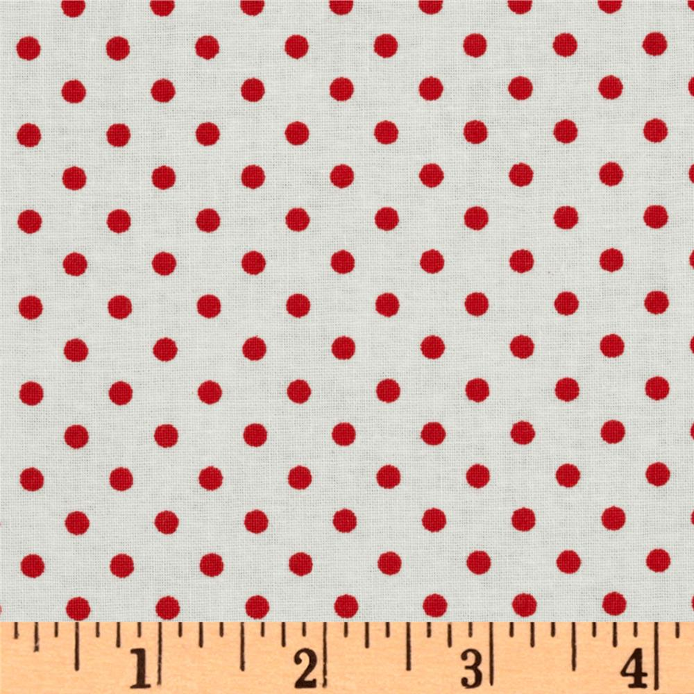 Crazy for Dots & Stripes Dottie White/Red