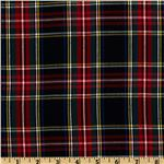 Kaufman House of Wales Plaid Shirting Black