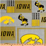 ET-309 Collegiate Fleece University of Iowa Plaid Blocks