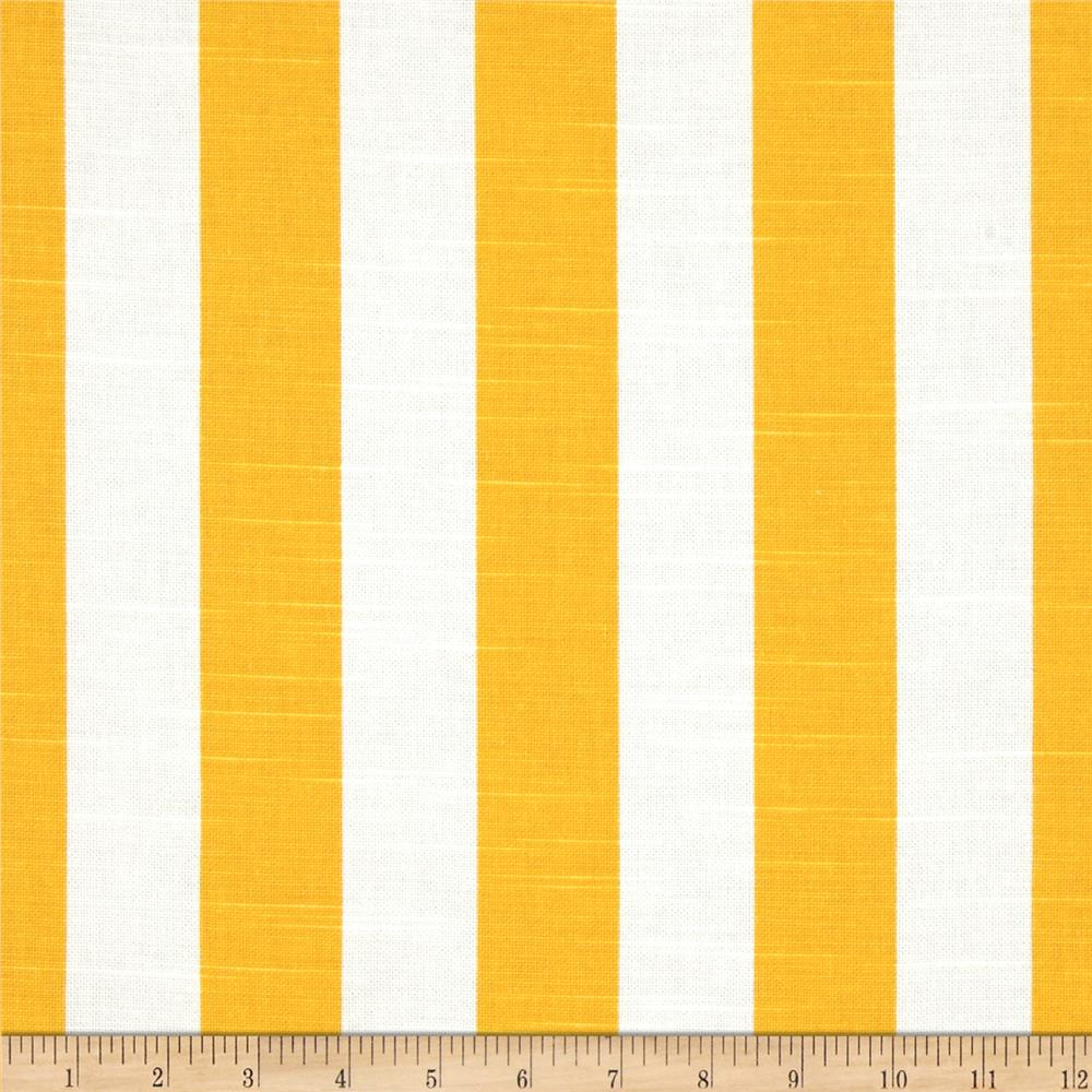 Premier Prints Canopy Stripe Slub Corn Yellow