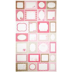 Riley Blake Sew Labels Panel Pink