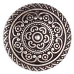 JHB-471 Metal Button 1 1/4'' Cordes Antique Silver