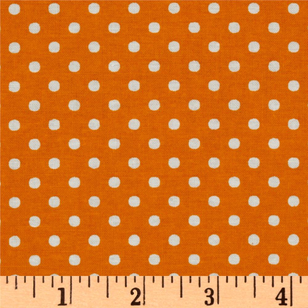 Crazy for Dots &amp; Stripes Dottie Orange/White