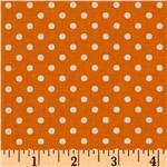 Crazy for Dots & Stripes Dottie Orange/White