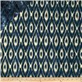 Double Sided Quilted Indian Batik Ikat Indigo/Cream