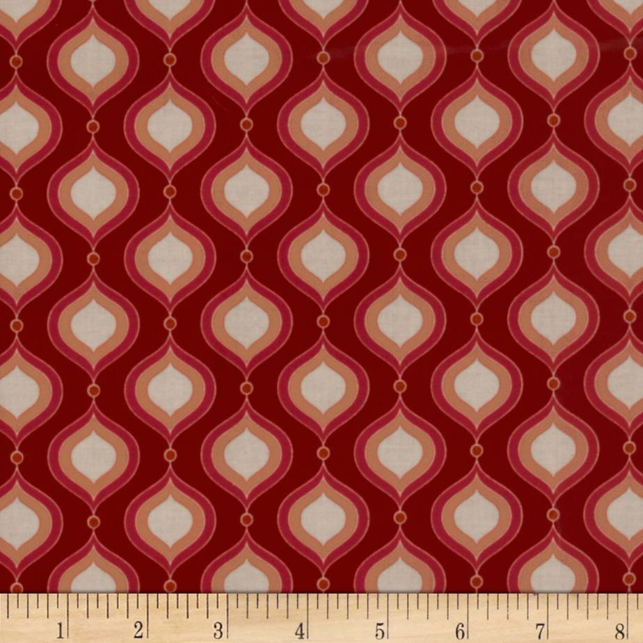 Riley Blake Flutter Laminated Cotton Petals Red