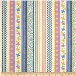 0285443 Backyard Butterflies Ribbon Stripe Periwinkle