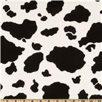 CW-840 Cow Hide Cotton Duck Black