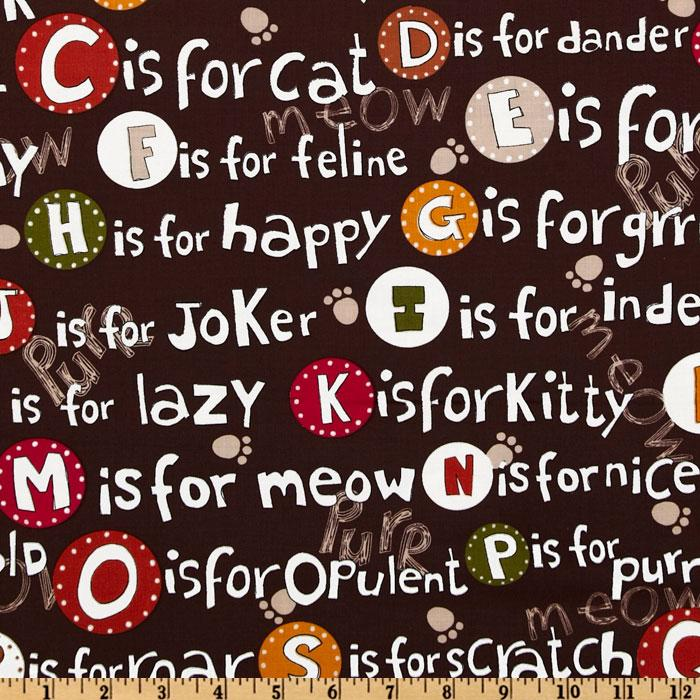 Kanvas C is For Cat Cat Alphabet Brown
