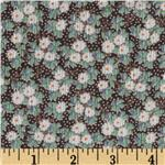 0281180 Crinkle Chiffon Ditzy Floral Mint