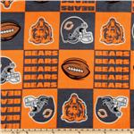 CK-154 NFL Fleece Chicago Bears Squares Orange
