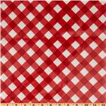 Michael Miller Bias Gingham Laminate Red