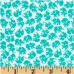 0290526 Michael Miller Little Elephants Flannel Turquoise