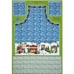 All Around The Town Apron Panel Blue