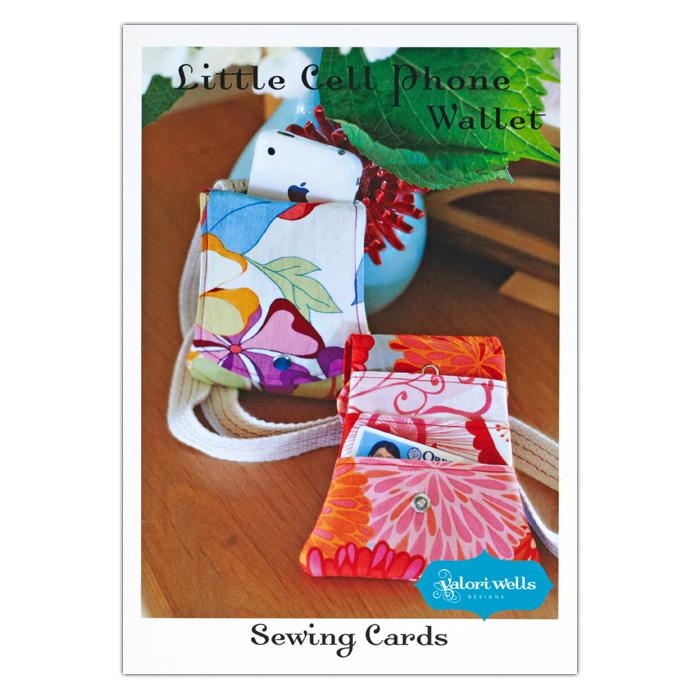 Valori Wells Little Cell Phone Wallet Sewing Card Pattern