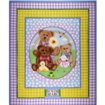 Boyds Bears Flannel Panel Multi