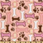 0283487 Dog Bone Fleece Pink