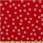 201971 Riley Blake Polka Dot Stitches Daisy Red