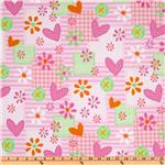 Mommy and Me Flannel Patch Pink