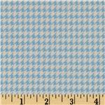 FT-568 Comfy Flannel Houndstooth Blue