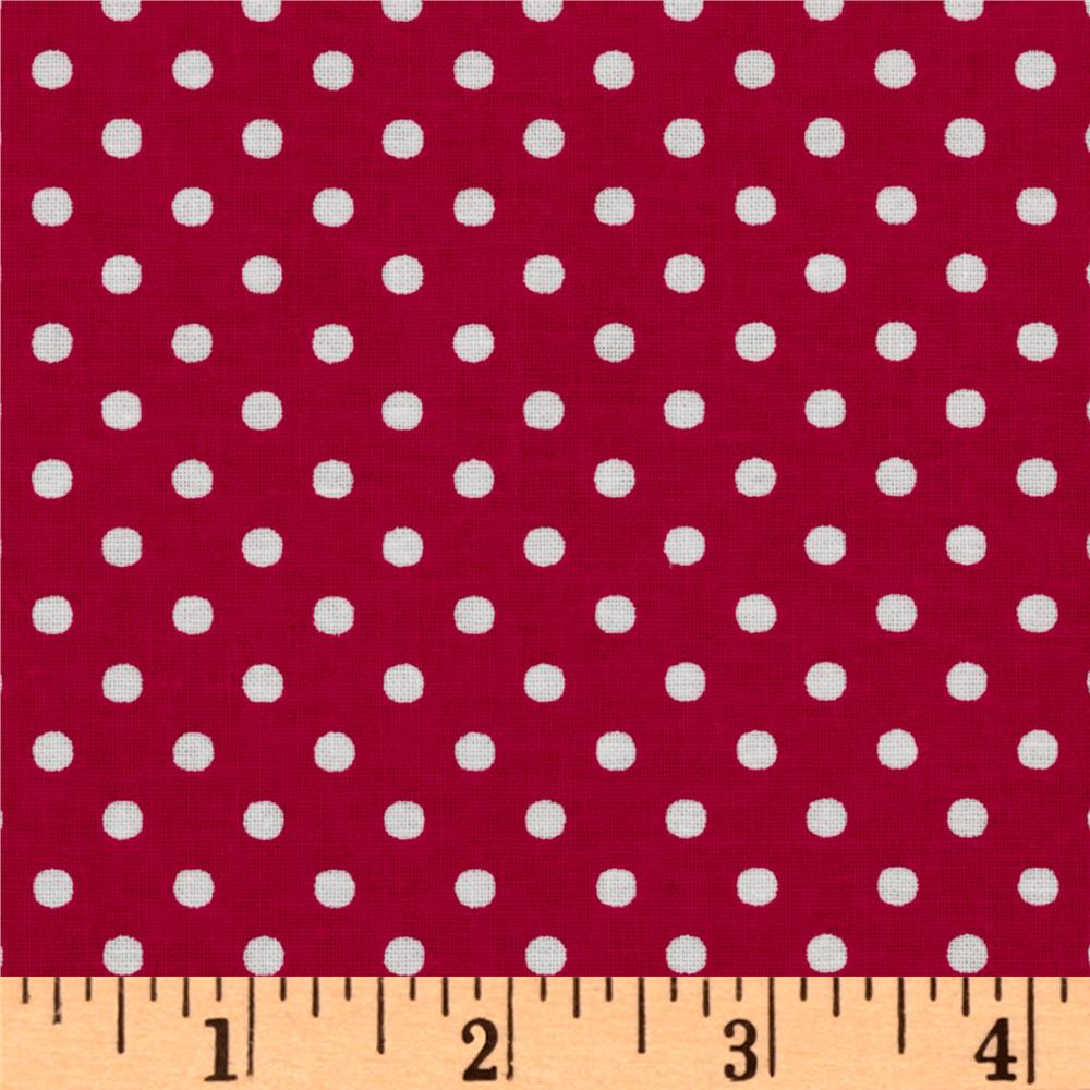 Crazy for Dots & Stripes Dottie Raspberry/White