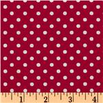 Crazy for Dots &amp; Stripes Dottie Raspberry/White