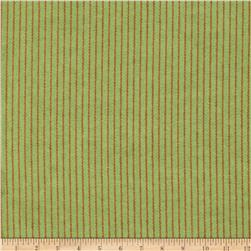 Aunt Polly's Flannel Pin Stripe Olive/Golden Brown