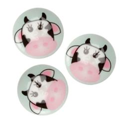 Novelty Button 3/4'' Critter Cow Multi