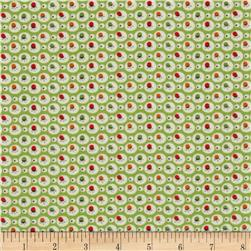 Holly's Dolls Floral Cirlces Green