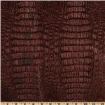 Faux Leather Metallic Gator Garnet