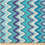 Cayman Crochet Chevron Lace Blue