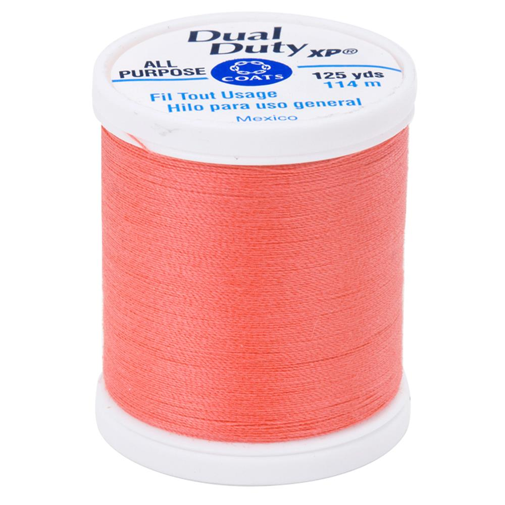 Coats & Clark Dual Duty XP 125yd Bright Coral