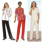 Kwik Sew Short Sleeved Blouse & Pants Pattern