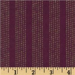 Primo Plaids Flannel Yarn Dyed Stripe Plum/Ivory