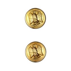 "Metal Button 7/8"" Jefferson Gold"