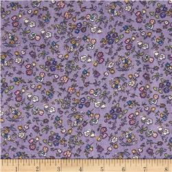 Chiffon Floral Purple/White