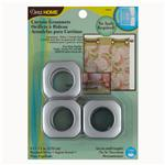 CGS-004 Curtain Grommets Square 1&quot; Brushed Silver