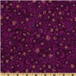 Midnight Gardens Floral Vines Purple