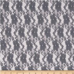 Stretch Fashion Lace Dark Grey