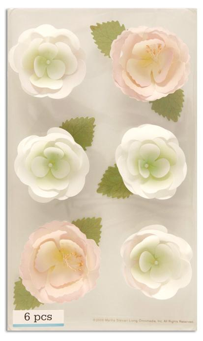 Martha Stewart Crafts 3 Dimensional Stickers Bouquet Flowers Pink