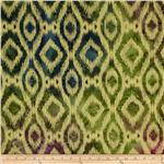 0269730 Indian Batik Ikat Natural/Plum/Sage/Olive