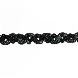 "5/8"" Sequin Trim Black"