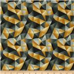 0296174 Modernist Geo Triangle Ochre