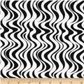 Mellow Yellow Wavy Stripe Black/White